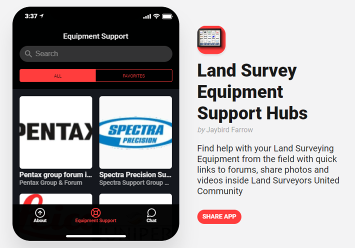 Land Surveyor Equipment Support App