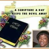 A SCRIPTURE OF DAY,KEEPS THE devil AWAY