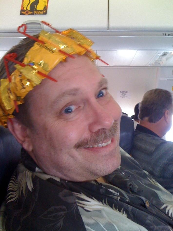 Ralph Paglia Crowned King by SWA Flight Attendants
