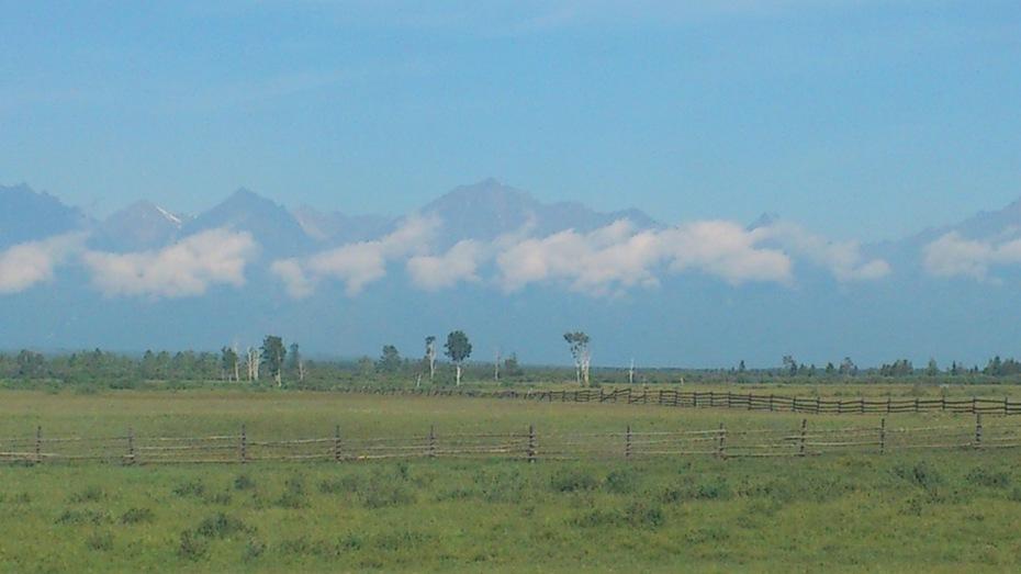 Тункинская долина, вид на горы Саяны