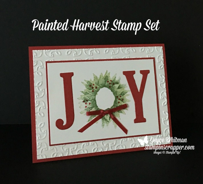 Painted Harvest Christmas Card