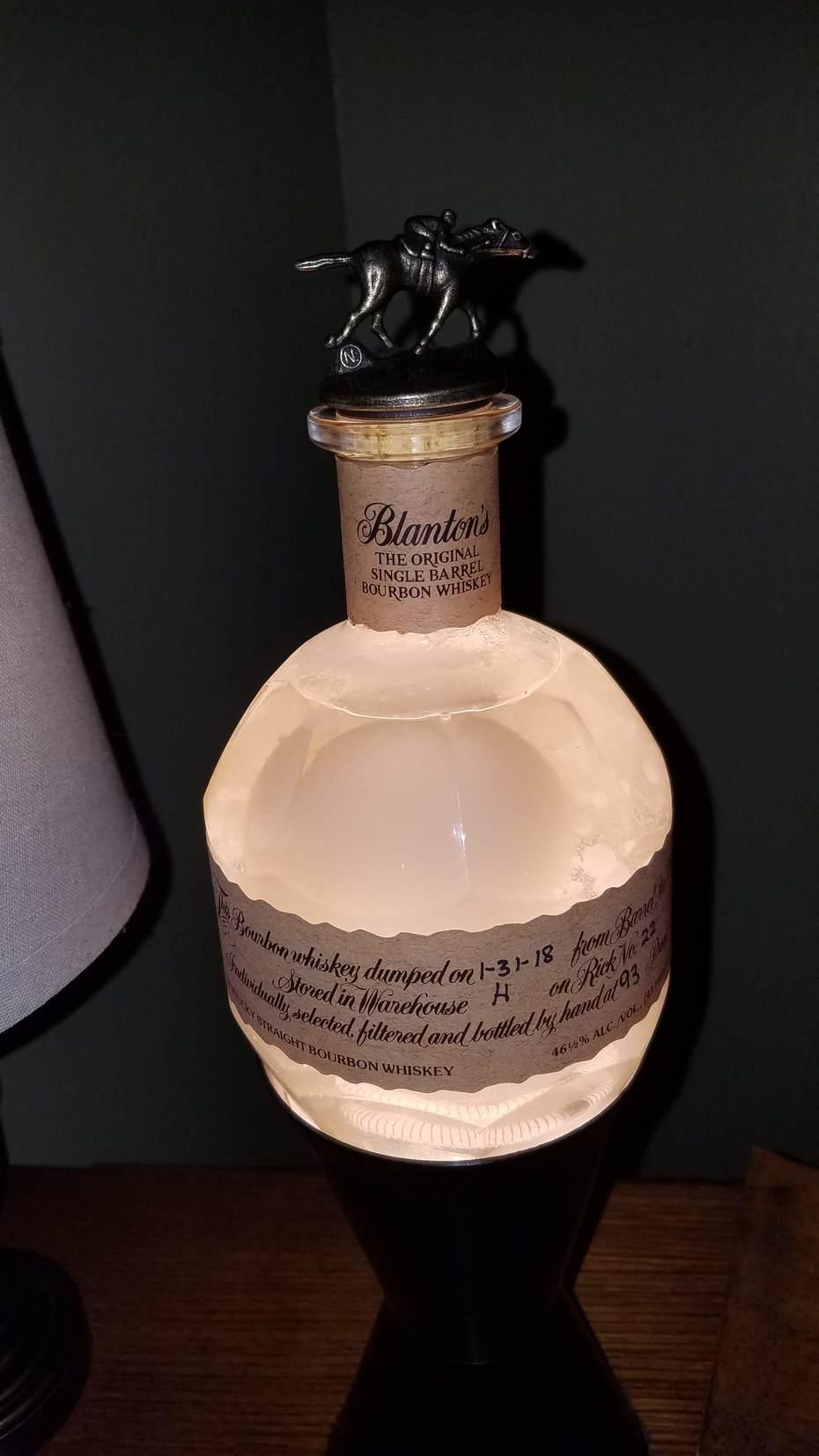 Homemade Blanton's Lava Lamp 2