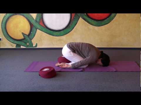 Variations of Child's Pose - Hatha Yoga Asana Garbhasana