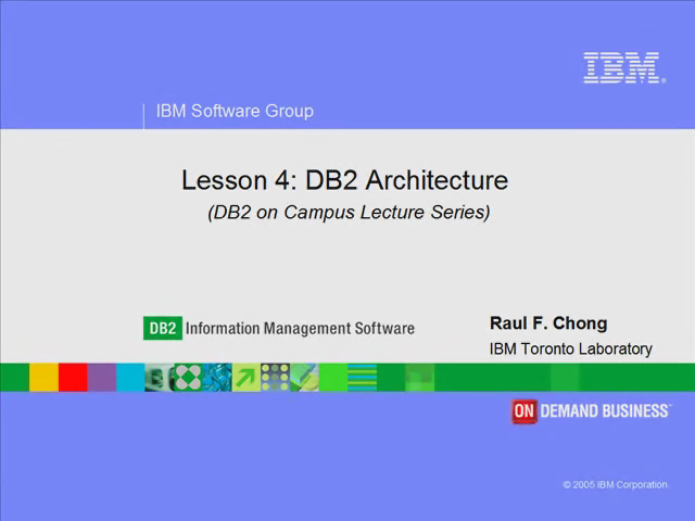 Lesson 4: DB2 Architecture