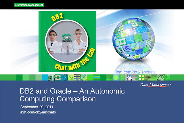 DB2 & Oracle: Autonomic Comparison