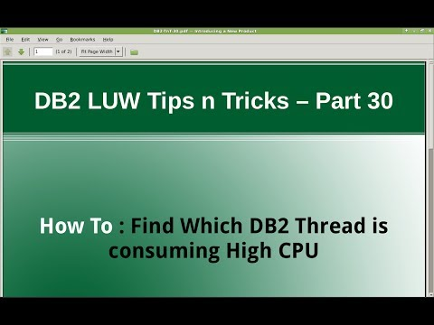 DB2 Tips n Tricks Part 30 - How to Find Which DB2 Thread is consuming High CPU
