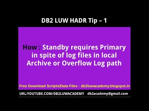 DB2 HADR - 1 - How  Standby requires Primary in spite of locally available Archive Log files