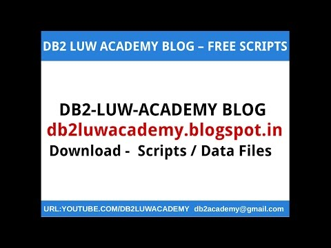 DB2 LUW ACADEMY BLOG