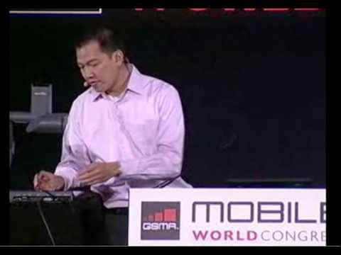 Flash 10.1 Demos at Google Keynote at Mobile World Congress -  Eric Schmidt