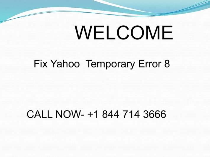 Fix Yahoo  Temporary Error 8