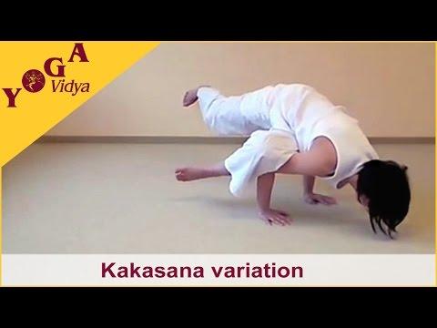 Kakasana – several advanced variations of the Crow