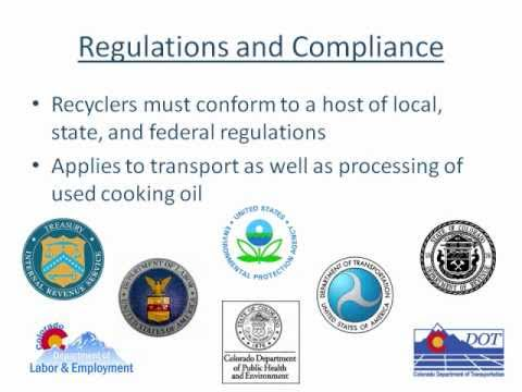 recycOil Used Cooking Oil Recycling Service Compliance