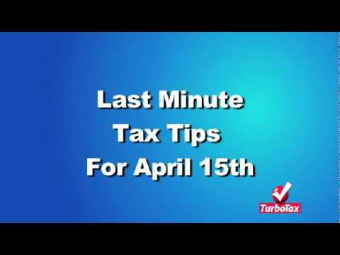 Last Minute Tax Filing Tips