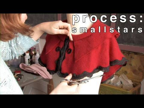 Process: Making Felted Capelets with SmallStars