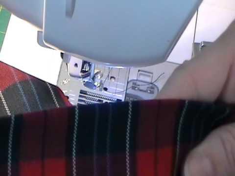 Blind hem sewing technique