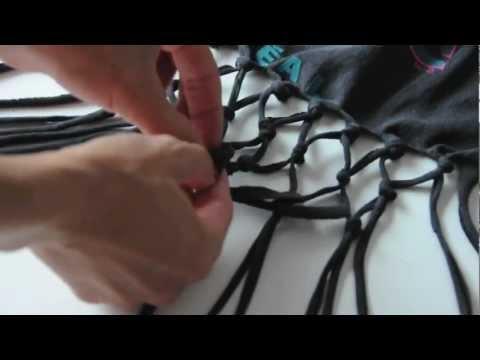 DIY reFashion Fish-net Shirt Tutorial