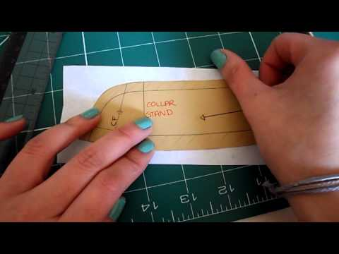 Pattern Cutting Tutorial: How to Check/Alter Shirt Collar Stand/Neckline To Avoid Puckering