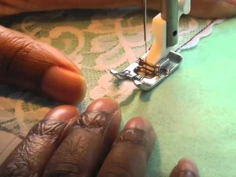 Lace Insertion Sewing Tutorial