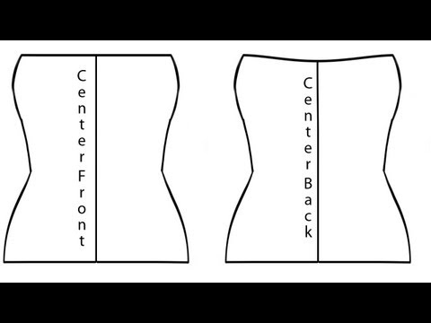 How to Pattern A Tube Top From Measurements (Knit Fabric)