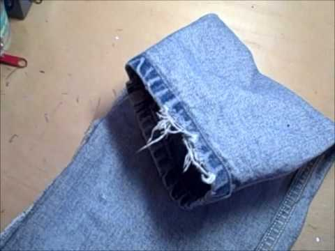 How to Sew a Draft Stopper - Recycle Jeans