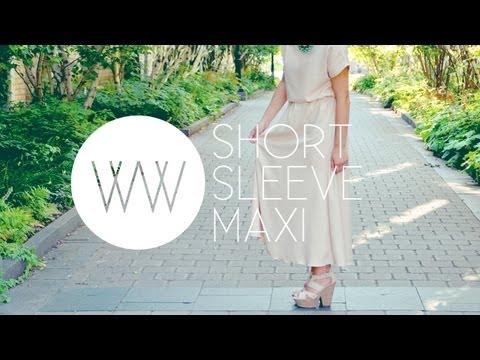 How to Make a Short Sleeve Maxi Dress