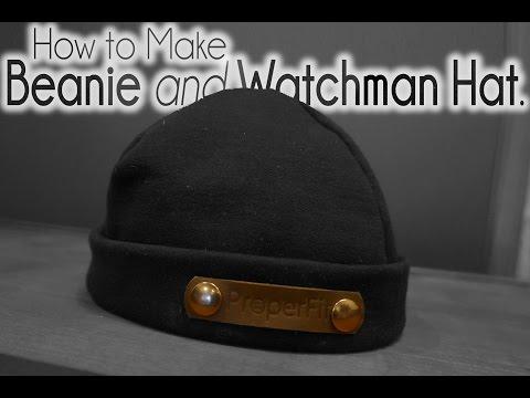 Sew Easy Winter Watchman Beanie Hat Tutorial