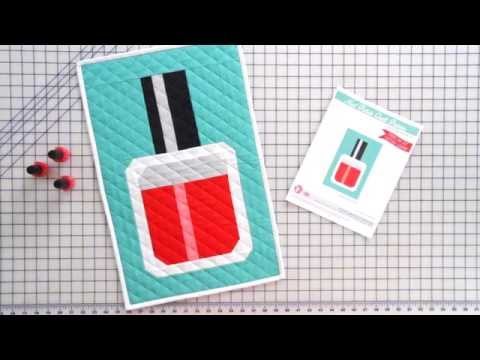 How to Sew a Nail Polish Bottle Wall Quilt + Free PDF Pattern