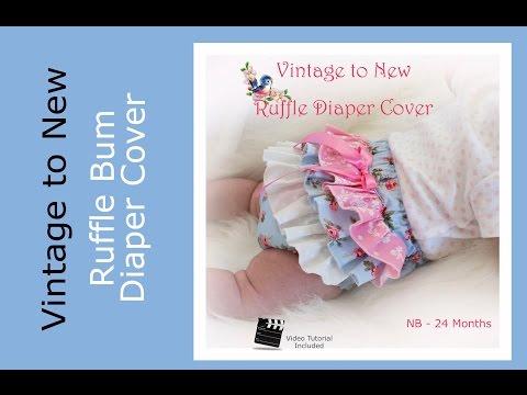 Ruffled Diaper Cover Sewing Pattern Tutorial