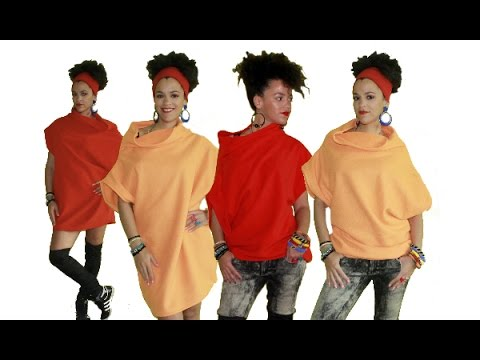 Easy DIY Top, Tunic, or Dress for Beginners with Fleece Fabric from pinkchocolatebreak