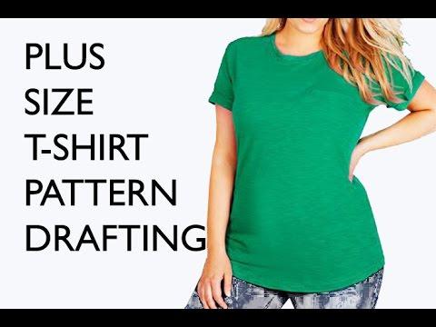 Sew a Plus Size T-Shirt - Free Pattern Drafting Tutorial