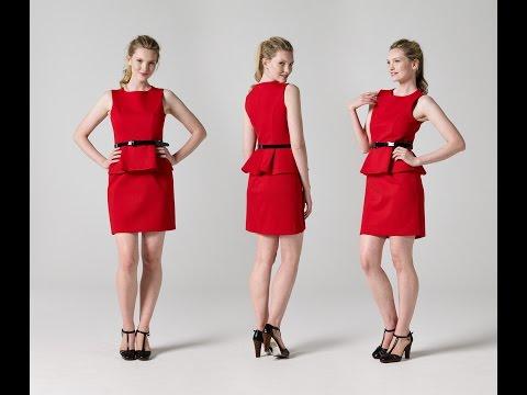 How to Make a Peplum Dress Part 1 | Teach Me Fashion