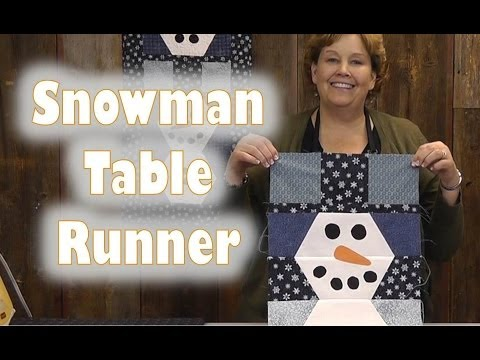Scrap Buster - How to Make a Snowman Table Runner or Wall Hanging
