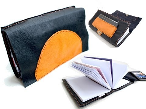 Intro: Hand-stitched Leather Writing Notebook Clutch