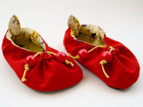 Infant's Cherry Shoe Sewing Demo