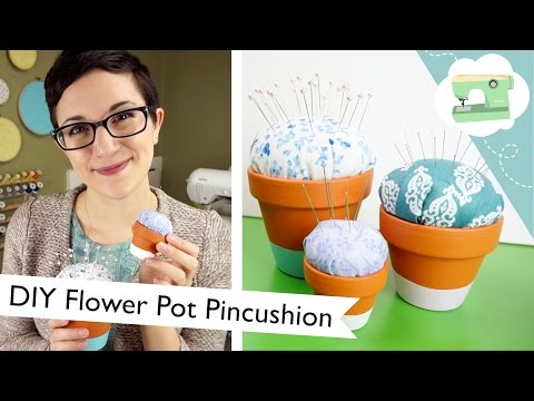 Flower Pot Pincushion Tutorial: Spring DIY