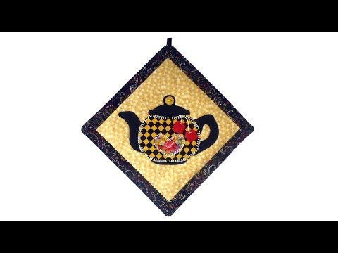 Teapot Mini-Quilt Tutorial with FREE PATTERN by Lisa Pay