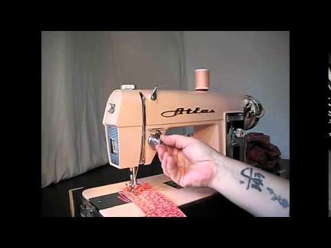 Demo Video: Pink Vintage Atlas Sewing Machine