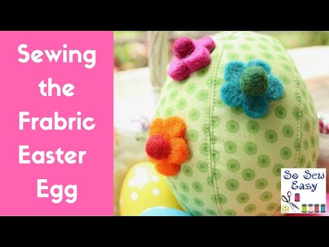 Cheerful Fabric Easter Eggs Made with Scraps