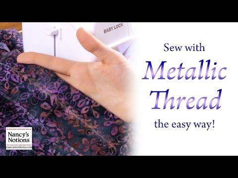 Nancy Zieman and the Absolute Best Way to Sew with Metallic Thread