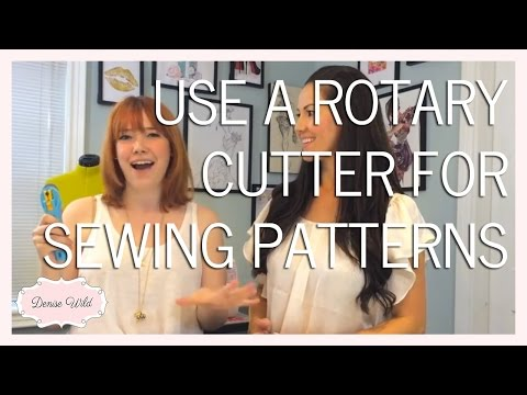 SEWING TIP: Cut Sewing Patterns With A Rotary Cutter
