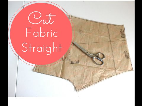 How to Cut Fabric Straight