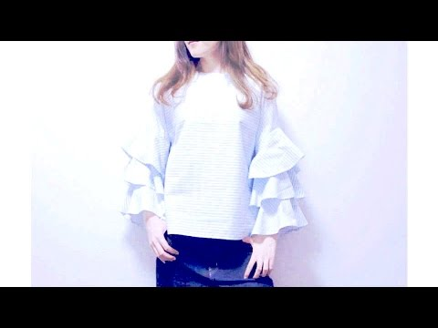 Sewing a Romantic Tiered Ruffle Sleeve Top