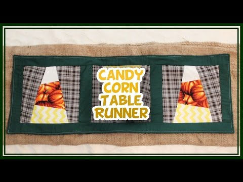 Candy Corn Quilted Table Runner - Whitney Sews