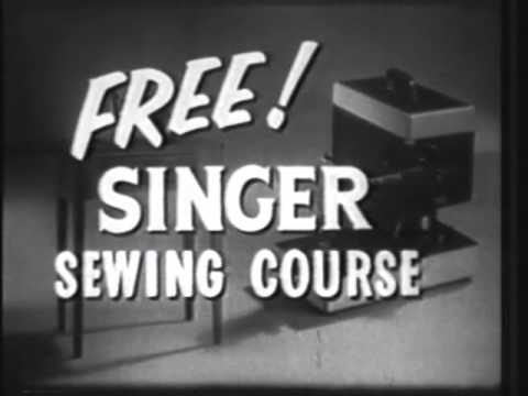 VINTAGE 1954 SINGER SEWING MACHINE COMMERCIAL