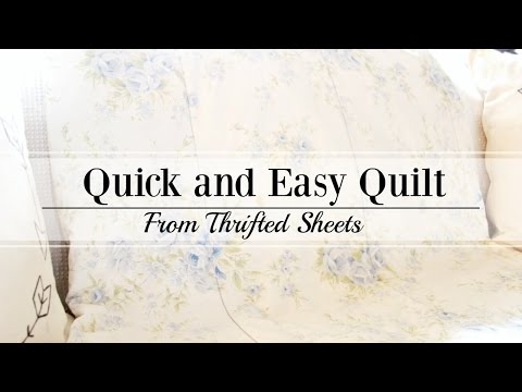 A Simple Quilt with Two Vintage Sheets - Beginners!