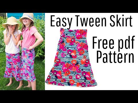 Simple Soft Cozy Fleece Skirts - Free Tutorials + Pattern Downloads