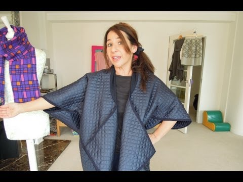 How to Sew Japanese Style Cocoon Coat in a Snap