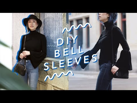 How to Sew Bell Sleeves - A Free Tutorial from WithWendy