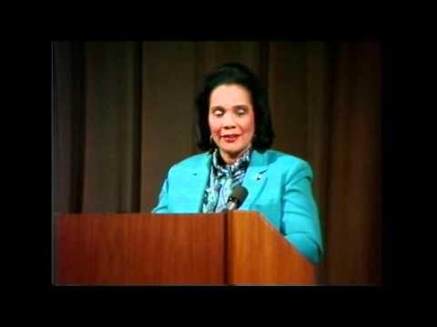 Ms. Coretta Scott King at Stanford on November 6,1986