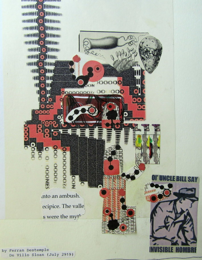 Mail art by Ferran Destemple (Barcelona, Spain) & De Villo Sloan (NY, USA)